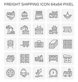 freight shipping icon vector image