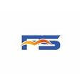 FS initial company logo vector image vector image