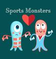funny monsters funny a involved in sports vector image vector image