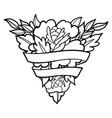 graphic floral vignette vector image vector image