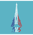 Hand drawn concept logo with Eiffel Tower with vector image vector image