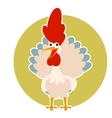 Happy cartoon rooster vector image vector image