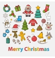 Happy New Year and Merry Christmas set vector image vector image