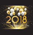 happy new year background with gold and silver vector image vector image