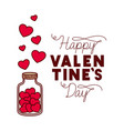 happy valentines day label isolated icon vector image vector image