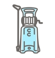 icon pressure washer vector image