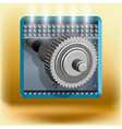 icon with gear vector image vector image