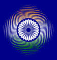 independence day of india 15 august the colors of vector image