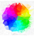 irregular polygon background color spectrum vector image vector image