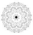 Islamic mandala on isolated background vector image vector image