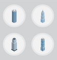 isometric construction set of exterior tower vector image vector image
