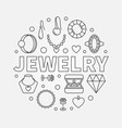 jewelry round made with vector image vector image