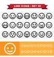 Line icons set 28 vector image vector image