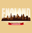 london united kingdom city skyline silhouette vector image vector image