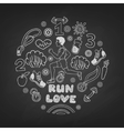 Love run man vector image vector image