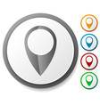 map marker map pin icon set location destination vector image