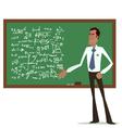 maths teacher vector image vector image