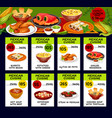 menu price cards for mexican cuisine vector image vector image