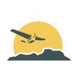 mountain emblem design vector image vector image