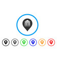 museum marker rounded icon vector image vector image