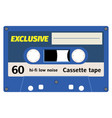 old fashion cassette tape design vector image