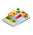 online grocery store app isometric vector image vector image