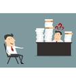 Overworked businessman vector image