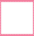 pink and white square frame made of animal paw vector image vector image