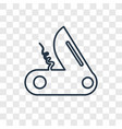 pocket knife concept linear icon isolated on vector image