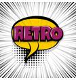 retro comic text stripperd backdrop vector image vector image