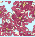 seamless floral wallpaper decorative vector image vector image