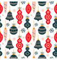 seamless pattern with new year vector image