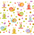 Seamless snail background vector image vector image