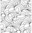 seamless wave background doodle drawn vector image vector image