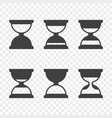 set of hourglass icons on a transparent vector image vector image