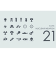 Set of nuclear weapon icons vector image