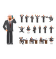 smart business arab man characters creation set vector image