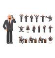 smart business arab man characters creation set vector image vector image