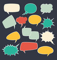 speech frames speak kids bubble set with speaking vector image vector image