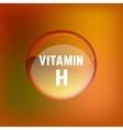 Vitamin H 02 A vector image vector image