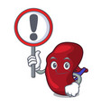 with sign spleen character cartoon style vector image vector image