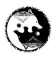 wolf yin yang celtik vector image
