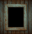 wooden window of an old abandoned building vector image vector image