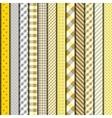 Yellow retro patchwork vector image vector image