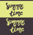 set of hand drawn lettering - summer time vector image