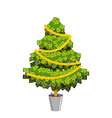 Money Tree Christmas tree from dollar Leaves from vector image