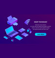 3d isometric ultraviolet web page template vector image vector image