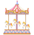 A merry-go-round rotating ride vector image vector image