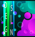 abstract fluid creative templates cards color vector image vector image