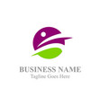 active people business company logo vector image vector image